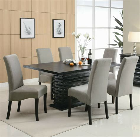contemporary black dining table chairs dining room