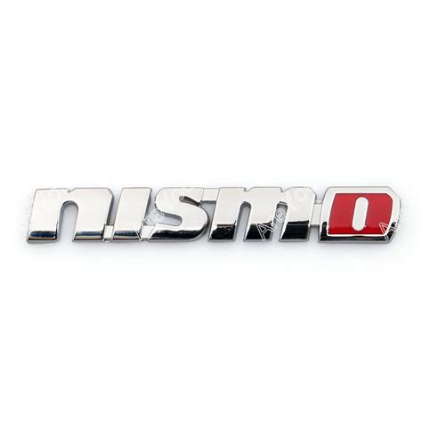nismo nissan logo 3d car emblem badge sticker decal nismo silver for
