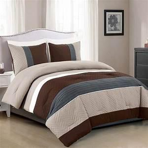 3, Piece, Modern, Design, Queen, Comforter, Set, Multicolor, Grey, Coffee, Brown, Beige, Taupe, Color, All