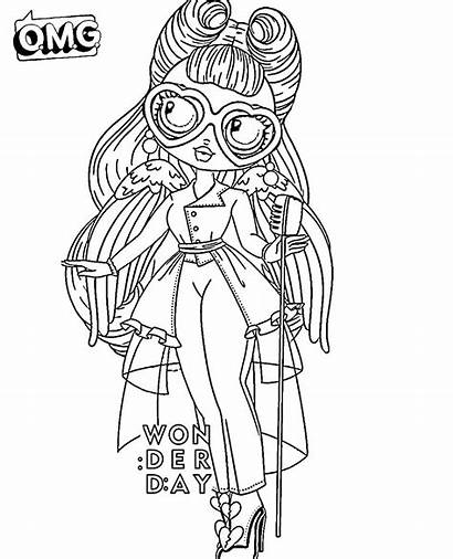 Omg Lol Coloring Doll Pages Dolls Printable
