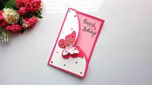 Beautiful Handmade Birthday Card idea -DIY GREETING cards ...