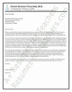 Science teacher cover letter sample stem ideas pinterest for Cover letter for science teacher position