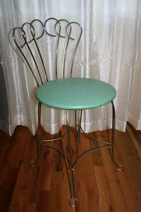 1000 images about vintage metal vanity chair on