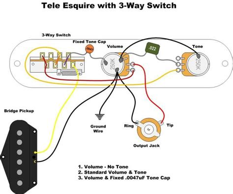 wiring harness esquire cocked wah with paf humbucker telecaster guitar forum
