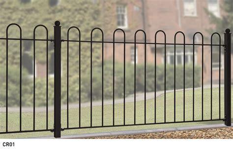 London Garden Fencing by Court Hoop Top Metal Fencing Panels Metal Gates Direct