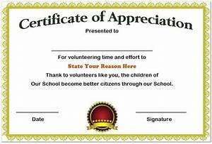 volunteer recognition certificate template - 13 volunteer appreciation certificates free printable