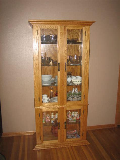 oak corner curio cabinet by gswoodworker lumberjocks