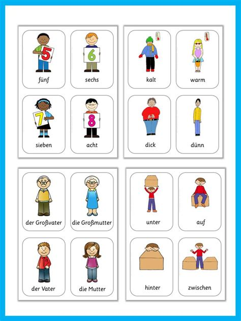 7 ways to use flashcards in language teaching german flash cards basic vocabulary so cute set of