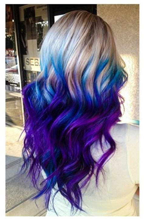 Purple Blue Ombre Dyed Hair ♥ Community
