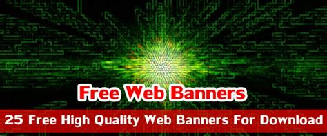 high quality web banners