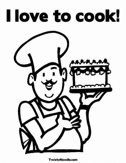 Coloring Pages Baker Preschool Cake Studies Social