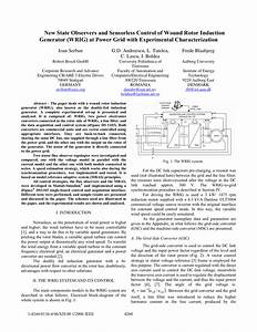 Pdf  New State Observers And Sensorless Control Of Wound