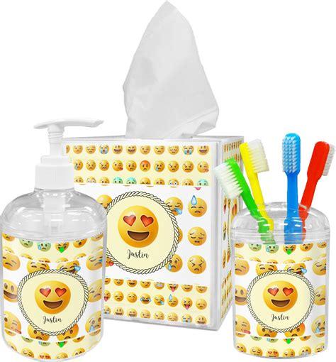 emojis bathroom accessories set personalized youcustomizeit