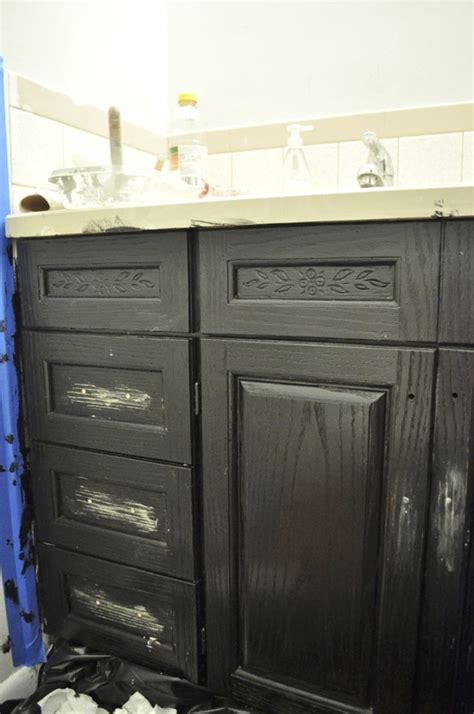 oak house projectupdated bathroom cabinet makeover