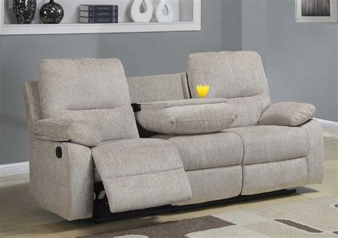 canapé home center homelegance marianna reclining sofa with center