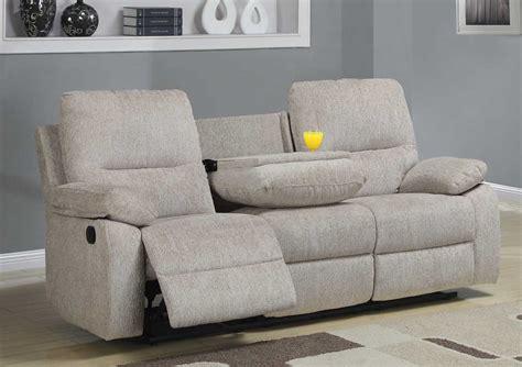 canapé home center homelegance marianna reclining sofa with center