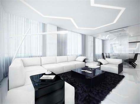 ruang tamu modern kontemporer hitam  putih rancangan