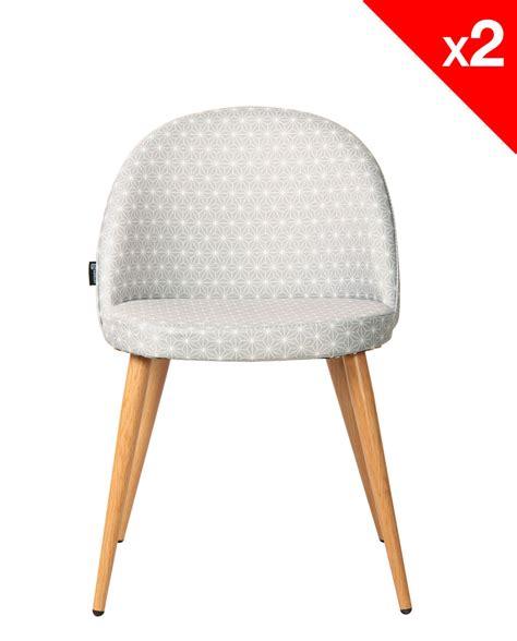 chaise vintage scandinave chaise scandinave vintage tissu étoiles lot de 2 giza