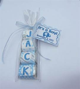 BABY SHOWER FAVOR, candy name,elephant theme Party Favor ...