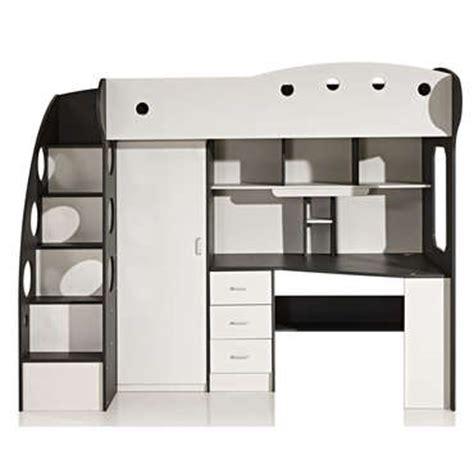 canapé galaxy lit mezzanine 90x190 cm coloris blanc gris vente