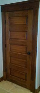 Horizontal 5-Panel Poplar Wood Door - Craftsman - Hall