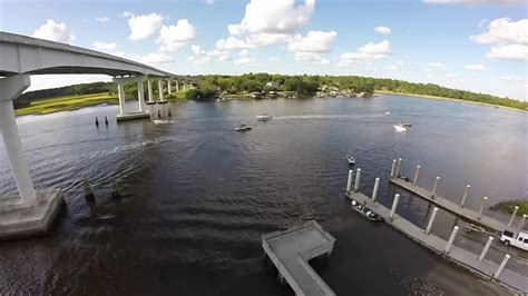 Boat Landing In Charleston Sc aerial footage stono river p limehouse boat