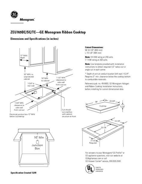 ge monogram zeubc manuals users guides