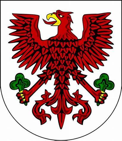 Arms Coat Clip Vector Gorzow Eagle Crest