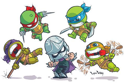 foto de TMNT Skottie Young Style by LordWilhelm on DeviantArt
