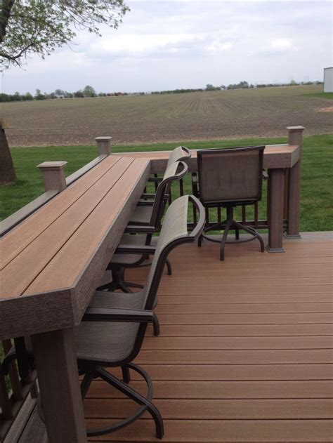 trex decking support spacing 1000 ideas about deck bar on patio bar