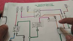 Car Starting Circuit Wiring Explained  Car Electrical