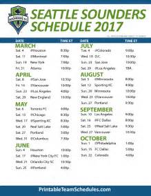 2017 Printable Seattle Sounders Schedule