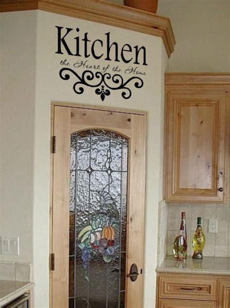 country wall decor for kitchen kitchen wall quote vinyl decal lettering decor sticky ebay 8480