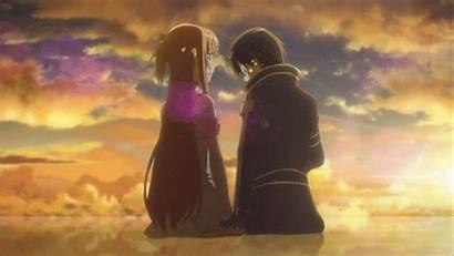 Anime Romance Asuna Kirito Sword
