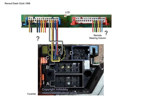 Dashboard Display Unit Wiring Help Needed Renault