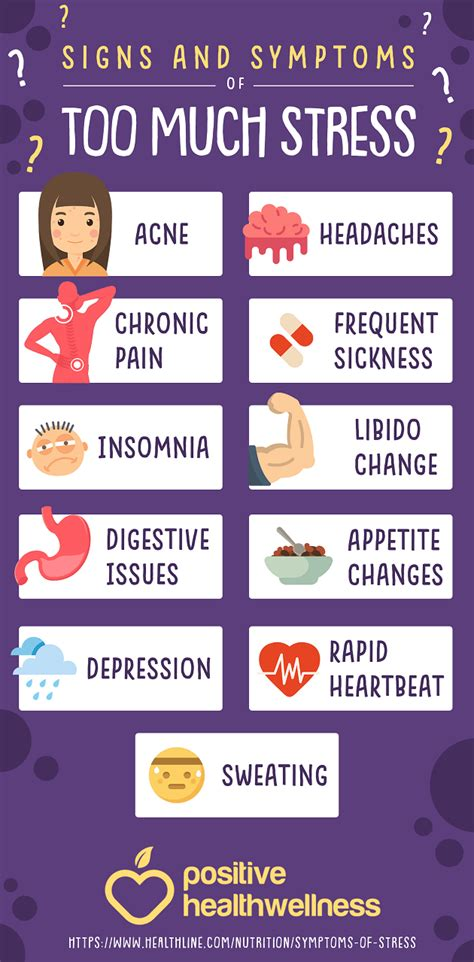 11 Signs And Symptoms Of Too Much Stress  Infographic. Nursing Mnemonics Signs. November 7 Signs. Hippie Wall Murals. Pink Color Banners