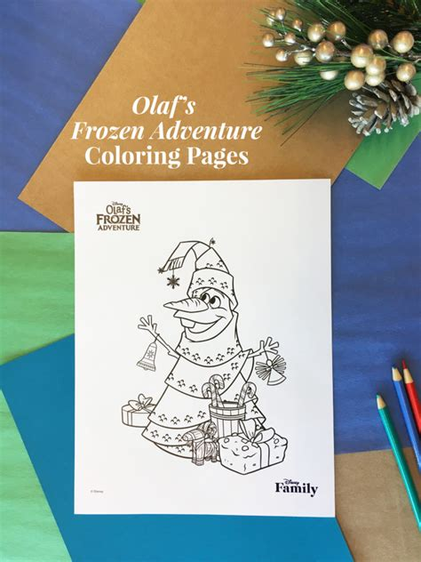 olafs frozen adventure coloring pages disney family