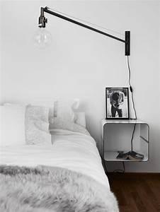 Table De Chevet Cube : 1001 id es pour une lampe de chevet suspendue dans la chambre coucher ~ Teatrodelosmanantiales.com Idées de Décoration