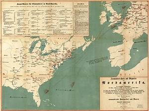 Emigrant's Map and Guide for Routes to North America ...