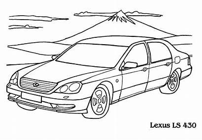 Lexus Coloring Ls Colorare Disegni Comfortable Malvorlagen
