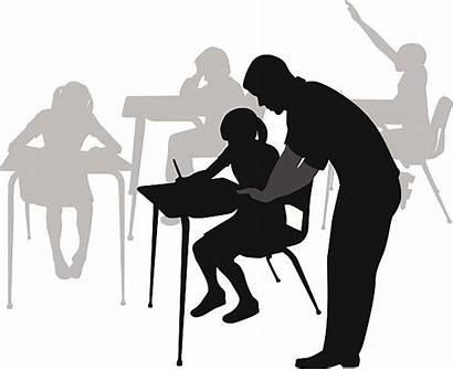 Teacher Student Vector Clipart Helping Classroom Elementary