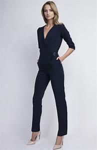 Combinaison Pantalon Femme Bleu Marine : combinaison pantalon bleu marine lan 108 bl idresstocode boutique de d shabill s et nuisettes ~ Dallasstarsshop.com Idées de Décoration