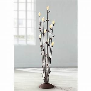 Arbor twisted vine 9 light rust floor lamp y7871 for Floor lamp with vines