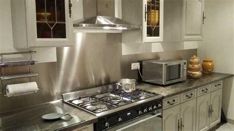 inox pour cuisine credence autocollante pour cuisine 12 inox bross233