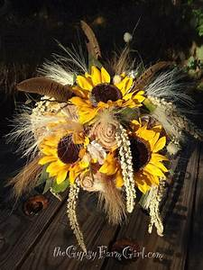 Ready To Ship Sunflower Burlap Lace And Pheasant