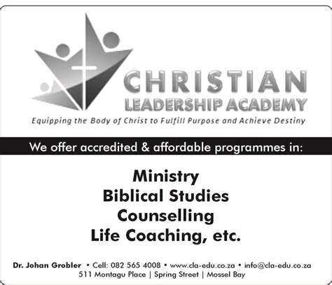 business focus  christian leadership academy mossview