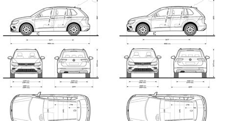 volkswagen tiguan dimensioni  bagagliaio