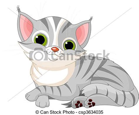 clipart vector   cute cat illustration