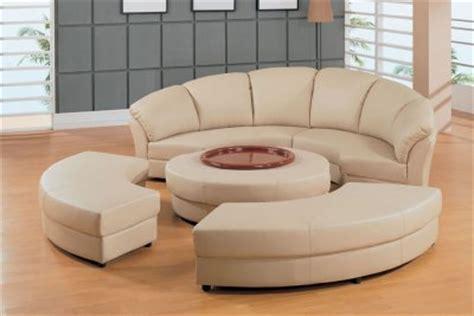 beige leather  moon shape  piece sectional sofa