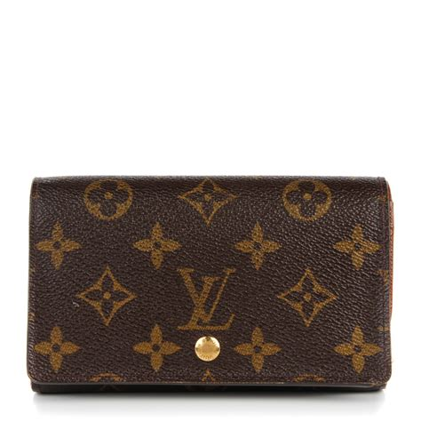 louis vuitton monogram porte monnaie tresor wallet 131731
